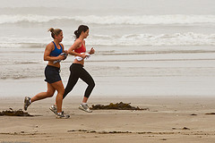 Two female joggers