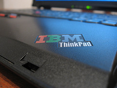 IBM Thinkpad logo closeup by eMaringolo